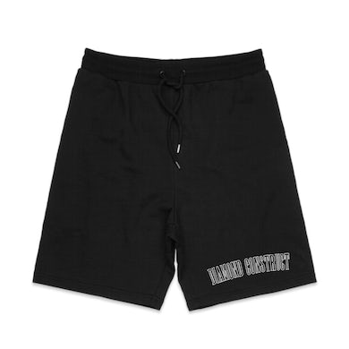 College Embroidered Shorts (Black)