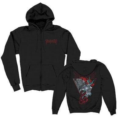 Kvelertak Demon Owl Zip Up Hoodie (Black)