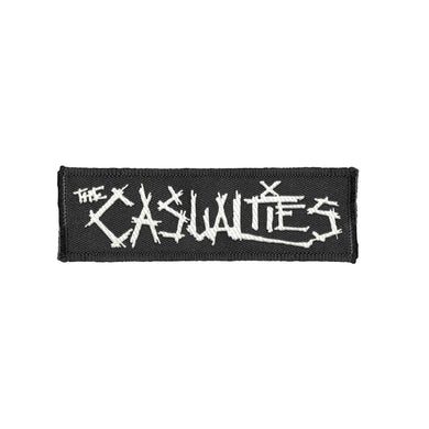 The Casualties Logo Patch (White Text)