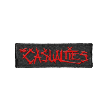 The Casualties Logo Patch (Red Text)
