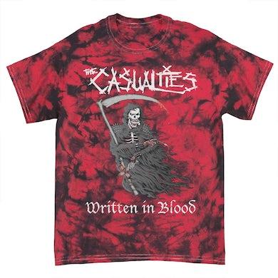 The Casualties Written in Blood Crystal Dye Tee (Red)