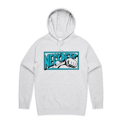 Neck Deep Punch Logo Hoodie (White Marle)