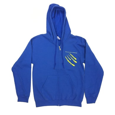 Moon Zip Up Hoodie (Blue)