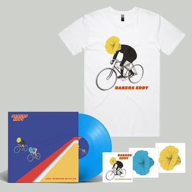 Love Boredom Bicycles LP (Blue Vinyl) + Tee + Stickers