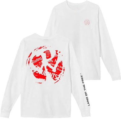 Pennywise Land Of The Free? CD Art Longsleeve (White)