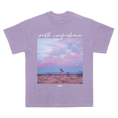 With Confidence Lilac Tee