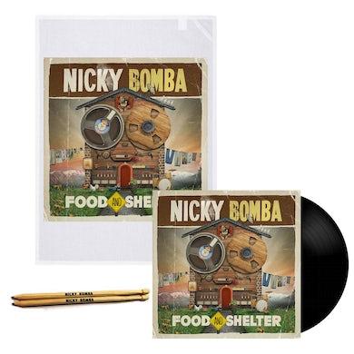 Nicky Bomba Food And Shelter LP (Black) + Tea Towel (Vinyl)