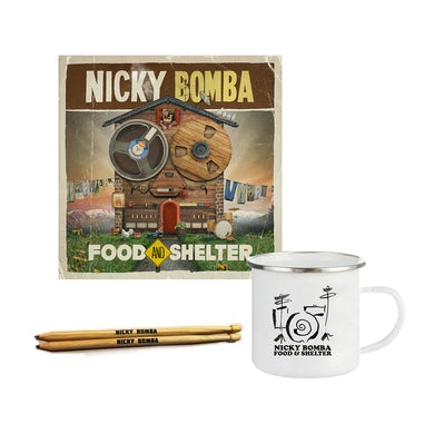 Nicky Bomba Food And Shelter Download + Book + Mug