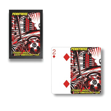 Pennywise Straight Ahead 20th Anniversary Tour Playing Cards
