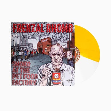 Frenzal Rhomb Smoko At The Pet Food Factory LP (5000 Cigarettes Split White/Yellow Vinyl)