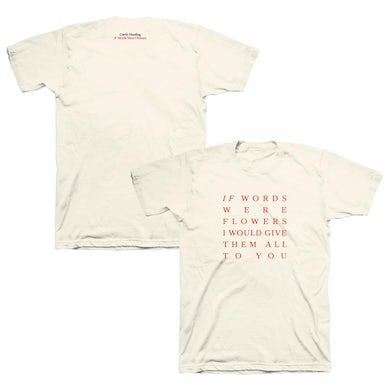 If Words Were Flowers Tee (Natural)