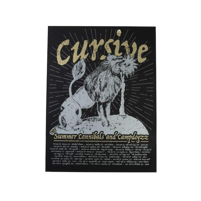 Cursive   18X24 Summer Cannibals and Campdogzz Poster