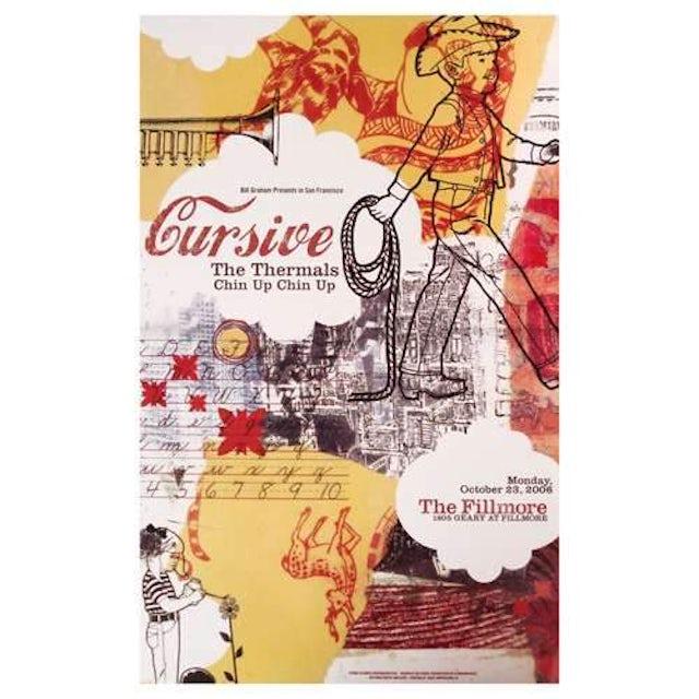Cursive | Deadstock The Fillmore 2006 Poster