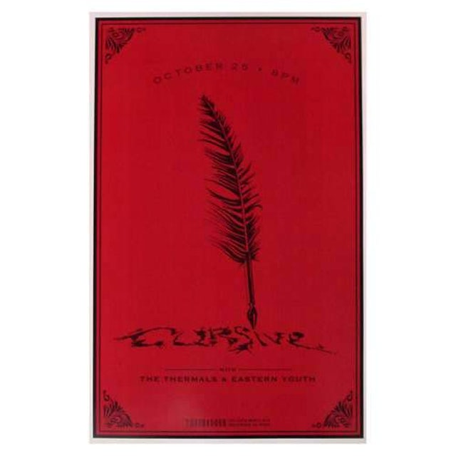 Cursive   Deadstock Troubadour Poster