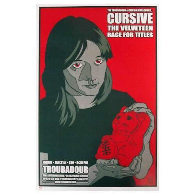 Cursive   Deadstock Troubadour 1/31 Poster