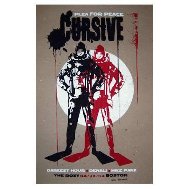 Cursive | Deadstock Plea for Peace 4/26/04 Poster