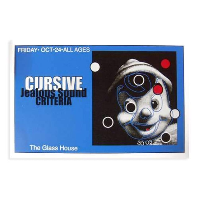 Cursive | Deadstock The Glass House 10/24/2003 Poster