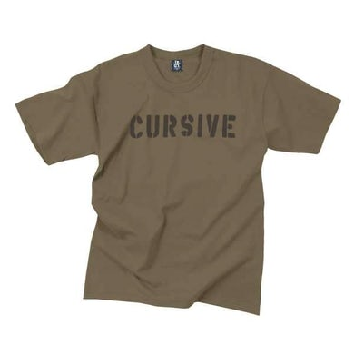 Cursive | Youth Stencil T-Shirt