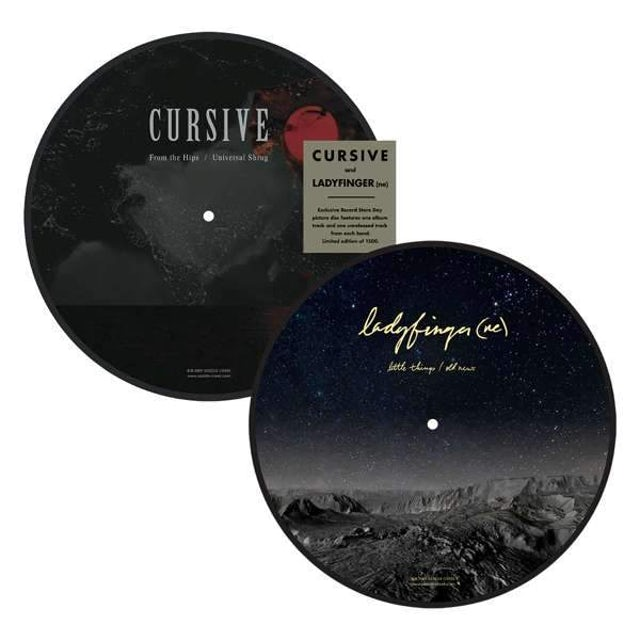 "Cursive | Cursive / Ladyfinger (NE) Split 10"" Picture Disc"