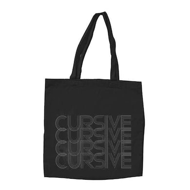 Cursive | Grey Rainbow Tote Bag
