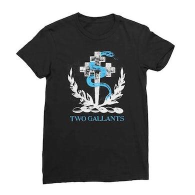 Two Gallants | Women's Crest T-Shirt - Black