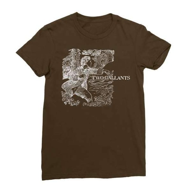 Two Gallants | Women's Forest & Throes T-Shirt - Brown