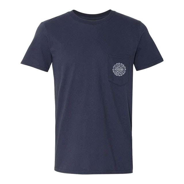 Conor Oberst | Floral Stamp T-Shirt - Navy