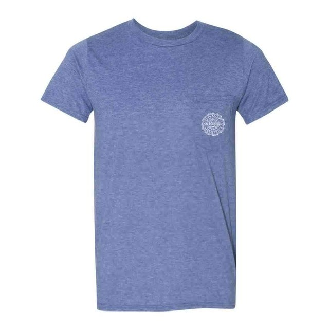 Conor Oberst | Floral Stamp T-Shirt - Heather Blue