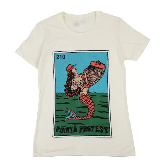 Piñata Protest | Women's Sirena Mermaid T-Shirt - Tan