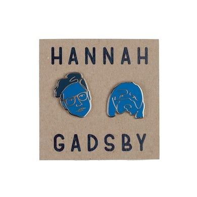 Hannah Gadsby Hannah Gadbsy | Face Enamel Pins - Blue