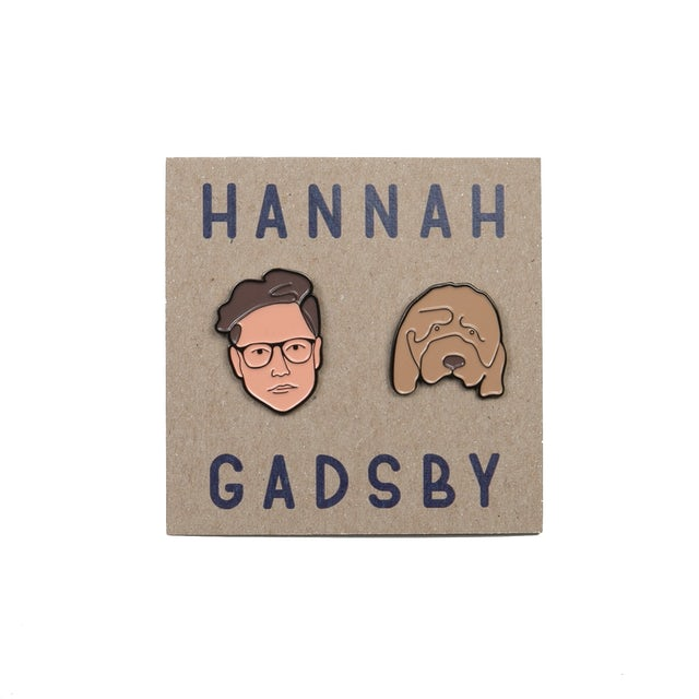 Hannah Gadsby   Face Enamel Pins