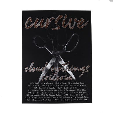 Cursive | Cursive + Cloud Nothings + Criteria Tour Poster