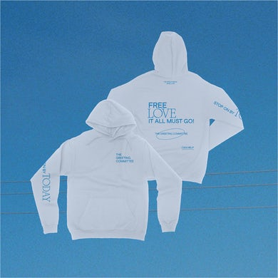 The Greeting Committee   Stop On By Hoodie - Light Blue