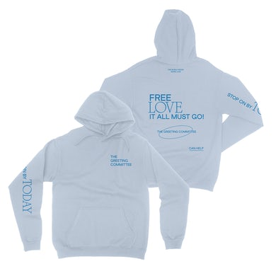 The Greeting Committee   Stop On By Hoodie - Light Blue *PREORDER*