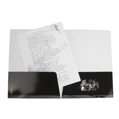 Folder w/ Signed Lyric Sheet + Magnet