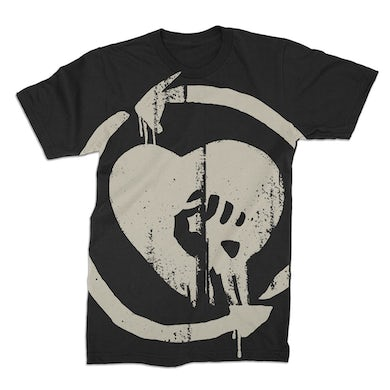 Rise Against Oversized Discharged HeartFist Tee (Black)