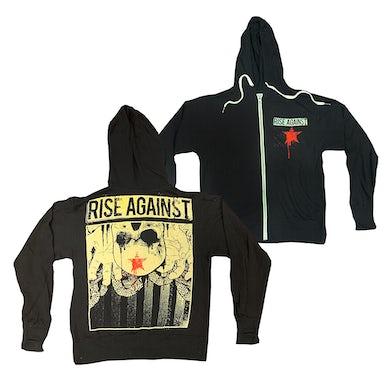 Rise Against Red Star Zip Hoodie (Black)