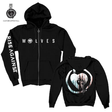 Rise Against We Are The Wolves Custom Zip Up Hoodie