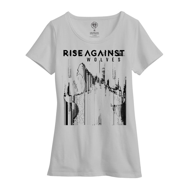 Rise Against Womens Wolves Bold Tee (White)