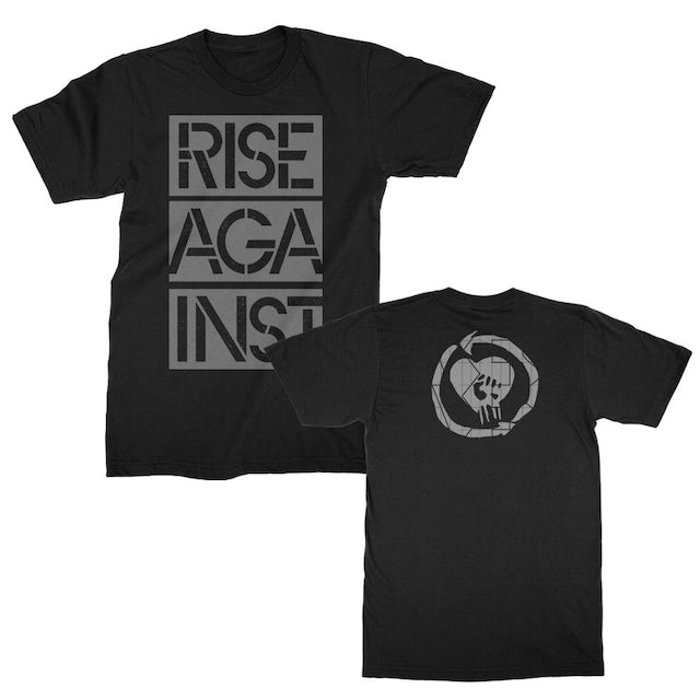 Rise Against Stacked Stencil Ghost Notes Tee (Black)