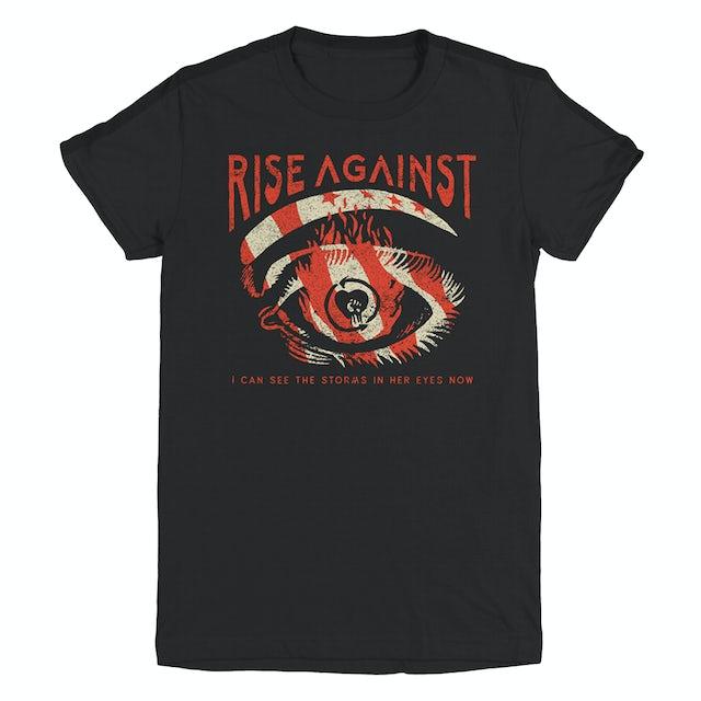 Rise Against Storm Eye Women's Tee (Black)
