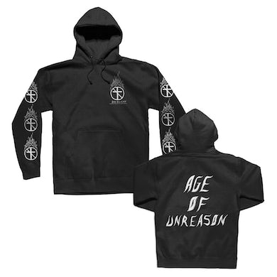Bad Religion Flaming Crossbuster Pullover Hoodie (Black)