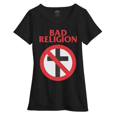 Bad Religion Crossbuster Women's Boatneck Tee (Black)