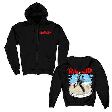 Rancid Skate Skele-Tim Zip Up Hoodie (Black)
