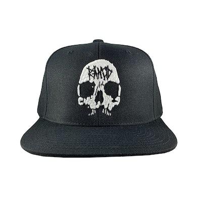 Rancid Skull Embroidered Snapback Hat (Black)