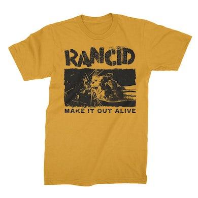 Rancid Shattered T-Shirt (Yellow)
