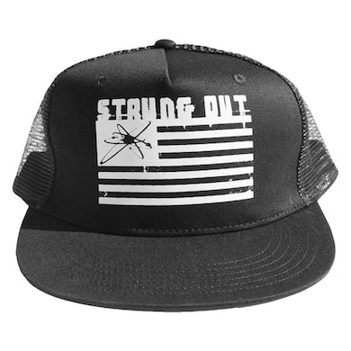 Strung Out Astrolux Flag Trucker Hat (Black)