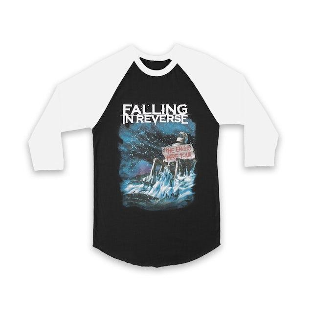 Falling In Reverse End Is Near Raglan (Black/White)