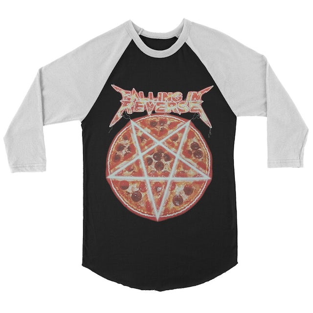 Falling In Reverse Pizza Raglan (Black/White)