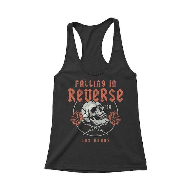 Falling In Reverse Rose Skull Women's Tank (Black)